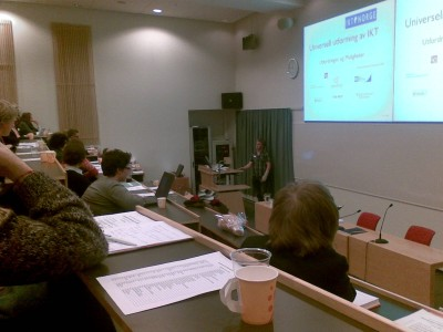 Omlag 70 personer deltok på seminaret om universell utforming som ble avholdt i mars 2009.