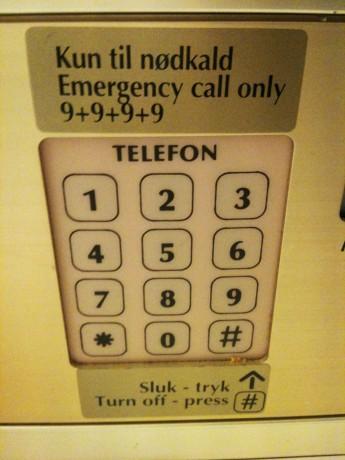 Telefon brukt som nødknapp